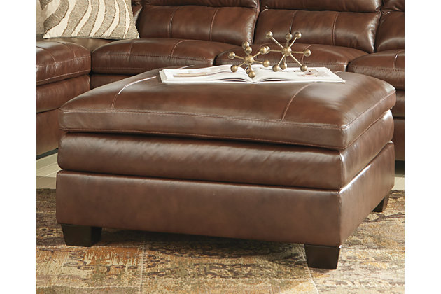 Gleason Oversized Ottoman, Canyon, large