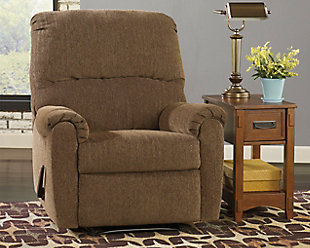 Pranit Recliner, Walnut, large