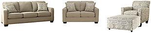 Alenya Sofa, Loveseat, Chair and Ottoman, , large