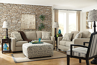Alenya Loveseat, Quartz, large