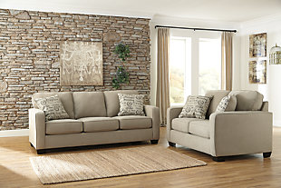 Alenya Sofa And Loveseat Quartz