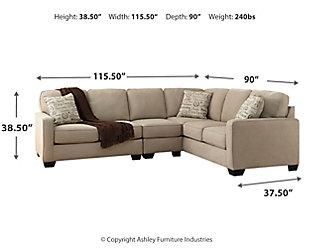 Alenya 3-Piece Sectional, Quartz, large