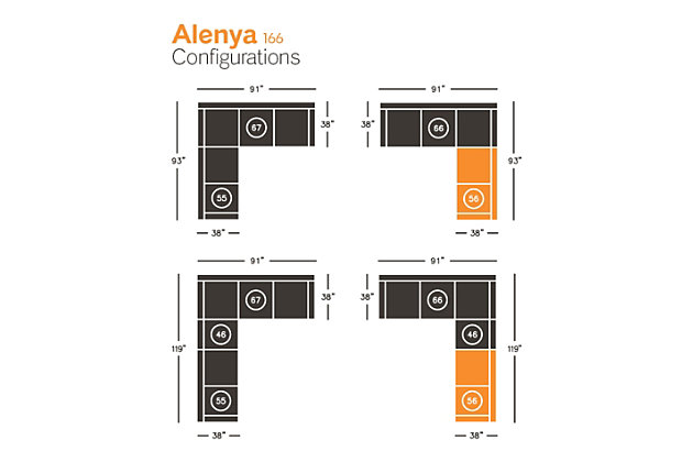 Alenya Right-Arm Facing Loveseat, , large