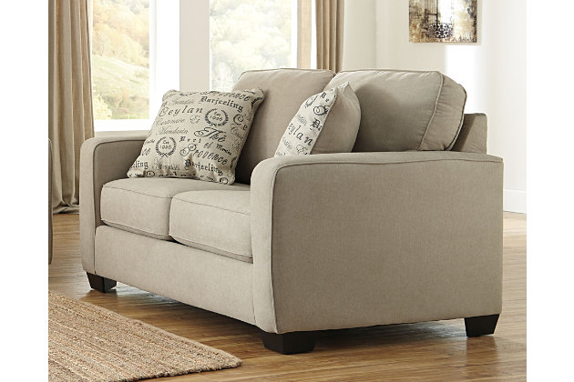 Alenya Loveseat, Quartz, Large ...