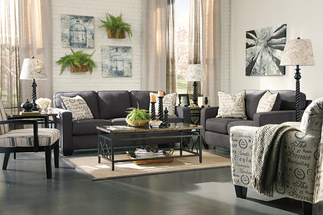 Alenya Loveseat, Charcoal, large