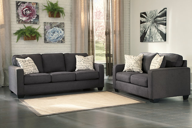 Alenya Couch And Loveseats In Smoky Charcoal Part 47
