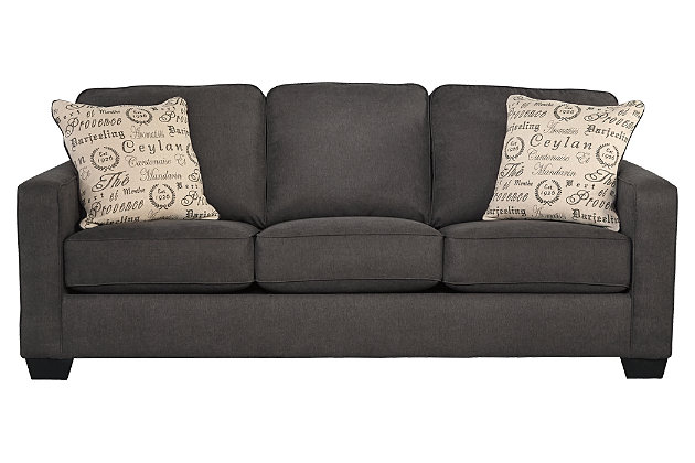 Alenya Sofa, Charcoal, large