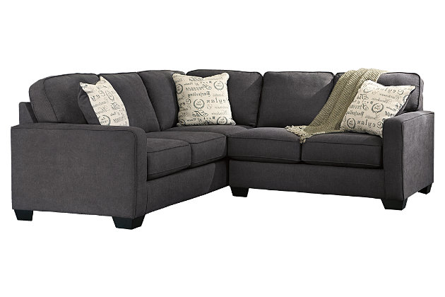 Gray Alenya 2-Piece Sectional by Ashley HomeStore, Polyester/Nylon