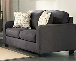 Nice ... Alenya Sofa And Loveseat, Charcoal, Large ...