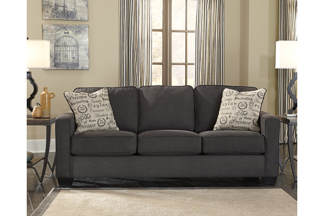 Alenya Sofa and Loveseat, Charcoal, large