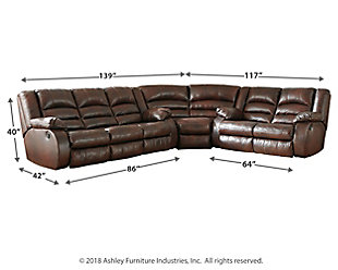 Levelland 3-Piece Reclining Sectional, , large