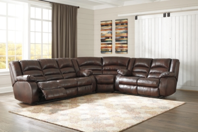 Sectional Cafe Leather Piece Product Photo 54