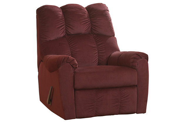 Raulo Recliner, Burgundy, large