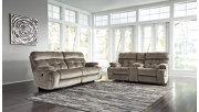 Brassville Reclining Sofa, Graystone, large