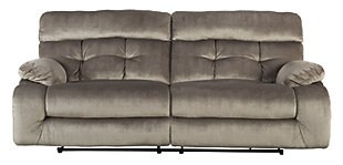 Brassville Power Reclining Sofa, Graystone, large