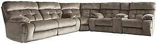 Brassville 3-Piece Reclining Sectional, Indigo, large
