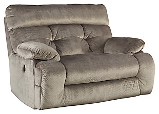 Brassville Oversized Power Recliner, Graystone, large