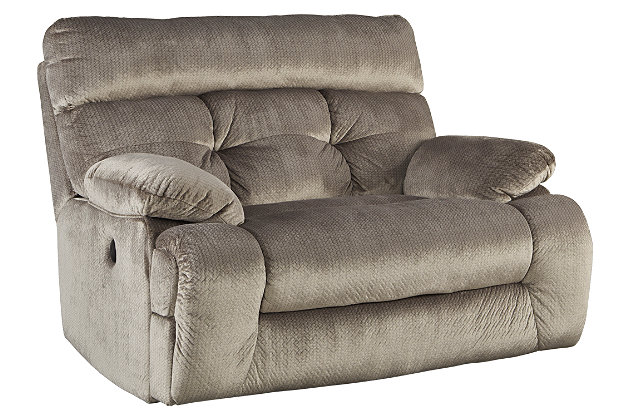 Brassville Oversized Recliner, Graystone, large