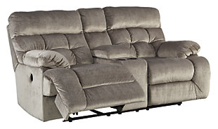 Brassville Sofa, Loveseat and Recliner, Graystone, large