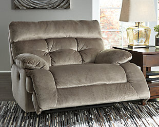 Brassville Oversized Power Recliner, Graystone, rollover