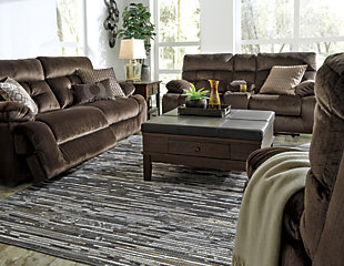 Brassville Sofa and Loveseat, Chocolate, large