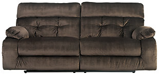 Brassville Reclining Sofa, Chocolate, large