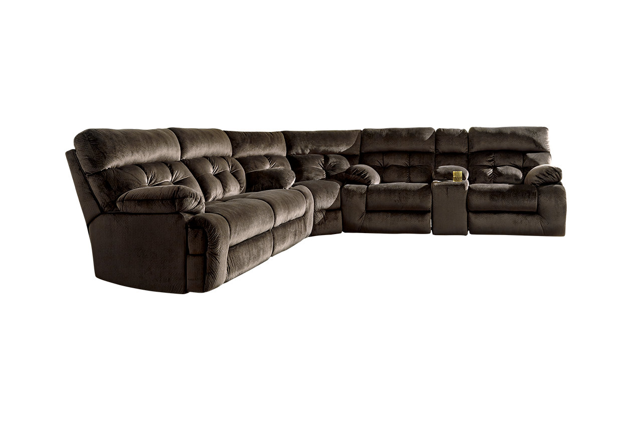 Brassville 3-Piece Reclining Sectional | Ashley Furniture ...
