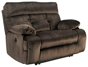 Brassville Oversized Power Recliner, Chocolate, large