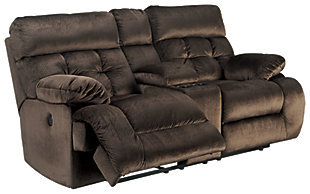 Brassville Power Reclining Loveseat with Console, , large
