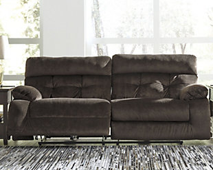 Brassville Power Reclining Sofa, Chocolate, rollover