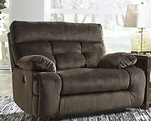 Brassville Oversized Power Recliner, Chocolate, rollover