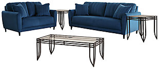 Enderlin Sofa and Loveseat with Coffee Table and 2 End Tables, , large
