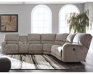 Pittsfield 4-Piece Reclining Sectional with Power, , rollover