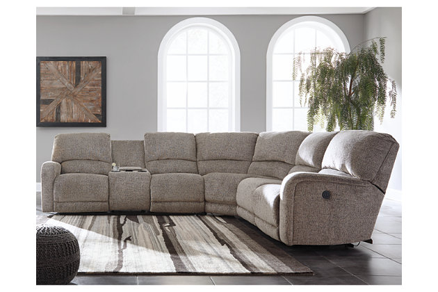 Pittsfield 4-Piece Reclining Sectional with Power, , large