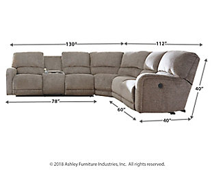 Pittsfield 4-Piece Power Reclining Sectional, , large