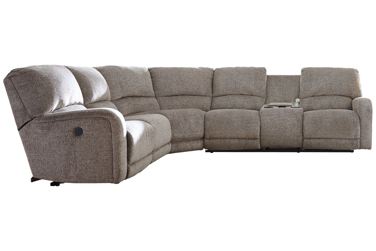 Admirable Pittsfield 4 Piece Reclining Sectional With Power Ashley Machost Co Dining Chair Design Ideas Machostcouk