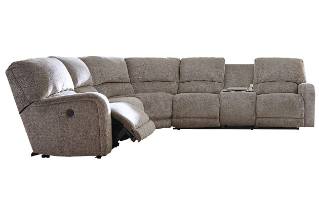 Pittsfield 3-Piece Reclining Sectional with Power, , large