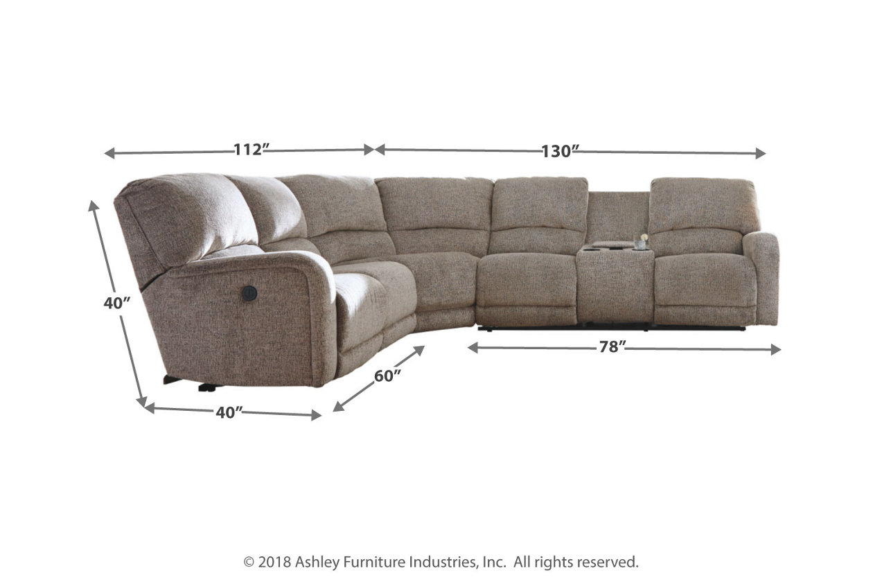 Peachy Pittsfield 4 Piece Reclining Sectional With Power Ashley Ncnpc Chair Design For Home Ncnpcorg
