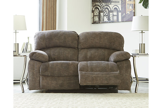 Cannelton Power Reclining Loveseat With Console Ashley