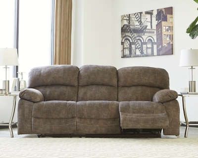 Reclining Sofa Tri Tone Gray Power Product Photo 398