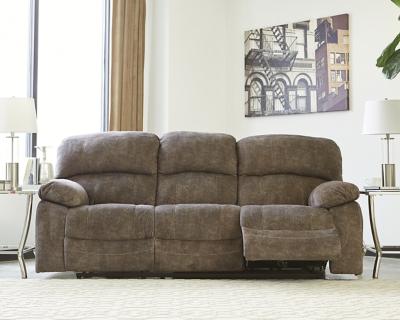 Reclining Sofa Tri Tone Gray Power Product Photo 399