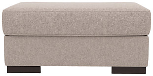 Bantry Nuvella® Oversized Chair Ottoman, Slate, rollover