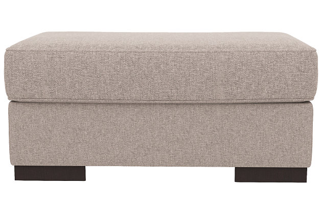 Bantry Nuvella® Oversized Chair Ottoman, Slate, large