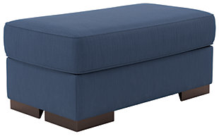 Bantry Nuvella® Oversized Chair Ottoman, Indigo, large