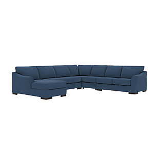 Bantry Nuvella® 5-Piece Sectional with Chaise and Sleeper, Indigo, rollover