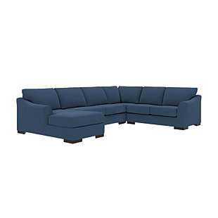 Bantry Nuvella® 4-Piece Sectional with Chaise and Sleeper, Indigo, rollover