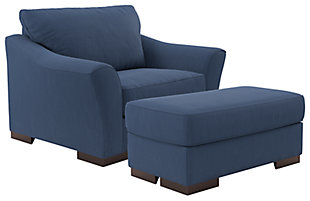 Bantry Nuvella® Chair and Ottoman, , large