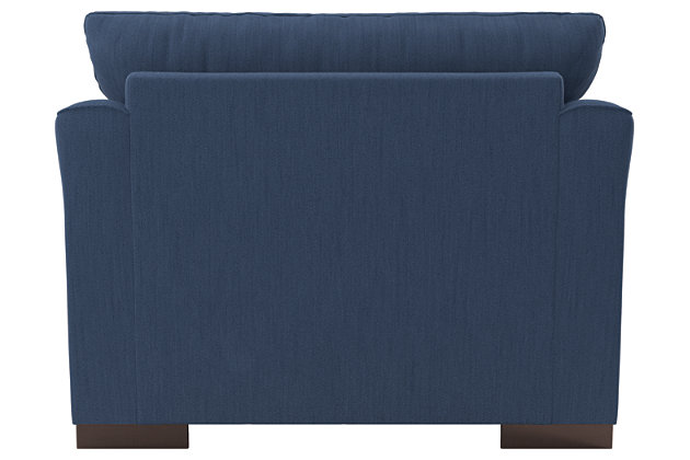 Bantry Nuvella® Oversized Chair, Indigo, large