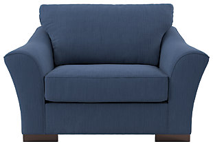 Bantry Nuvella® Oversized Chair, Indigo, rollover