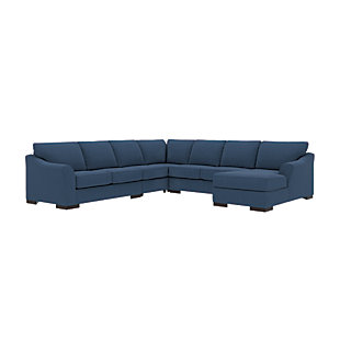 Bantry Nuvella® 5-Piece Sectional with Chaise, Indigo, large